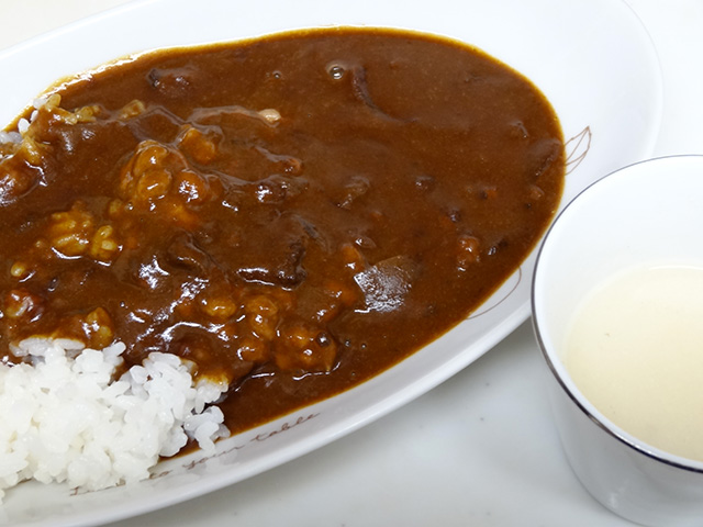 Curry and Rice with White Miso Soup