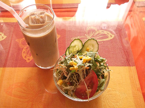 Salad and Ice Chai
