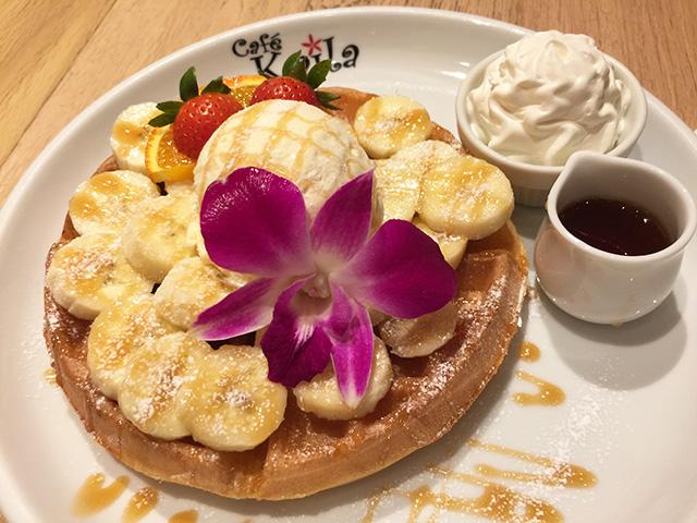 Caramel & Banana Waffles