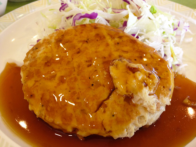 Hamburg Steak with Teriyaki Sauce