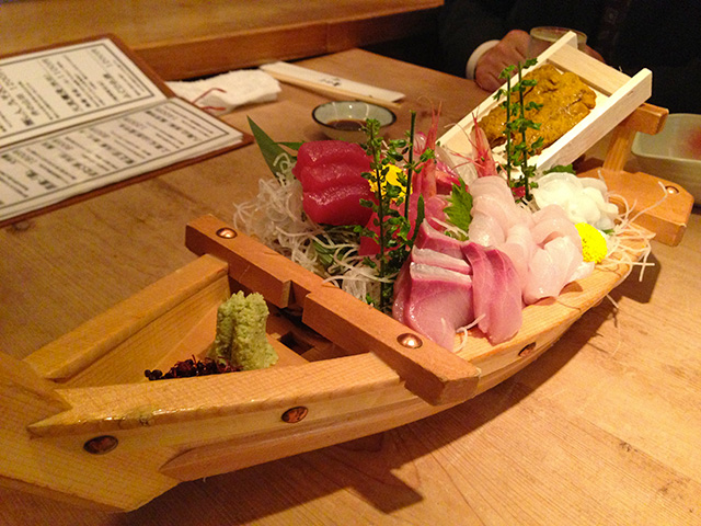 Assorted Sashimi on the Boat