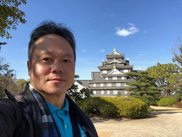 Dr. MaCHO with Okayama Castle