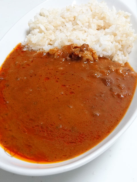 Cream Cheese Curry with Sprouted Brown Rice