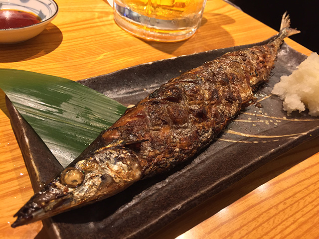 Broiled Saury with Salt