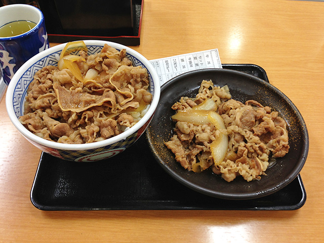 Beef Bowl and Beef Dish