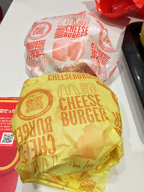 Cheeseburger and Double Cheeseburger