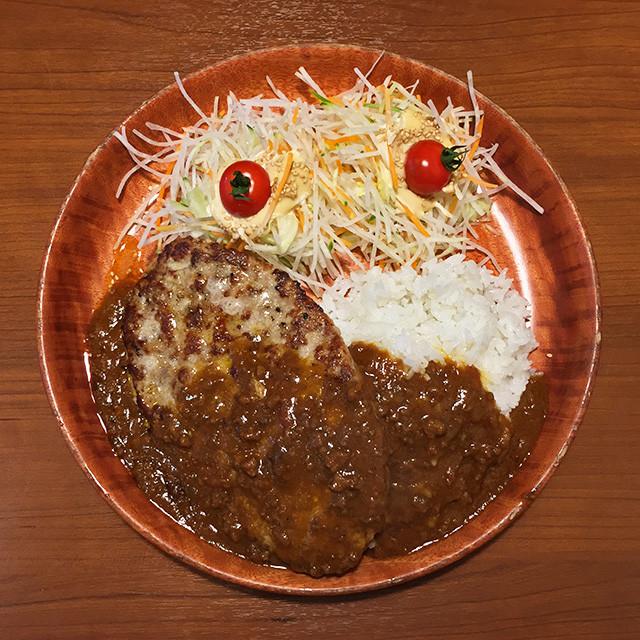 Curry Burg Dish