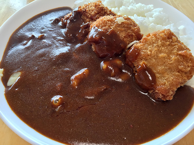 Beef Curry with Deep-Fried Tuna and Cheese