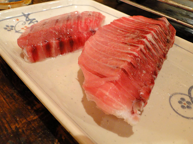 Broiled Fin Area of Tuna