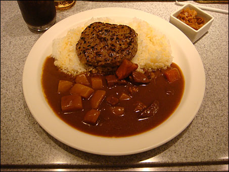 Beef Curry with Vegetables and Hamburger