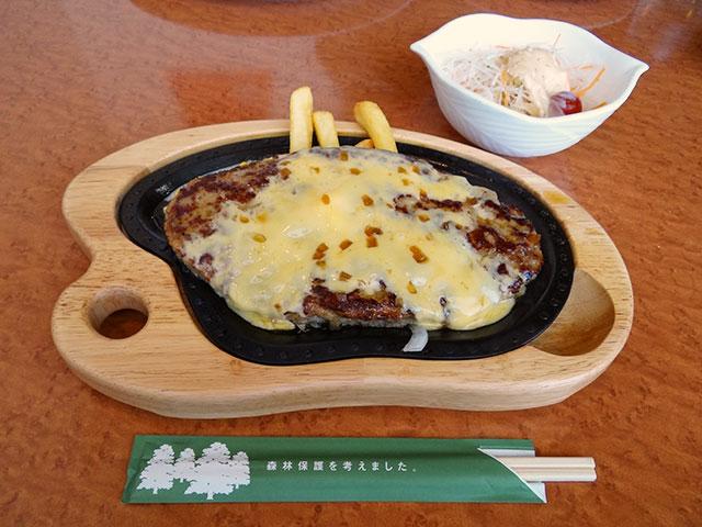 Cheese Gulliver Burg Steak with Dish Salad