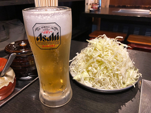 Draft Beer with Julienned Cabbage