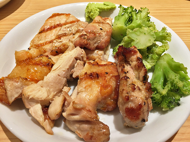 Grilled Chicken and Pork with Broccoli