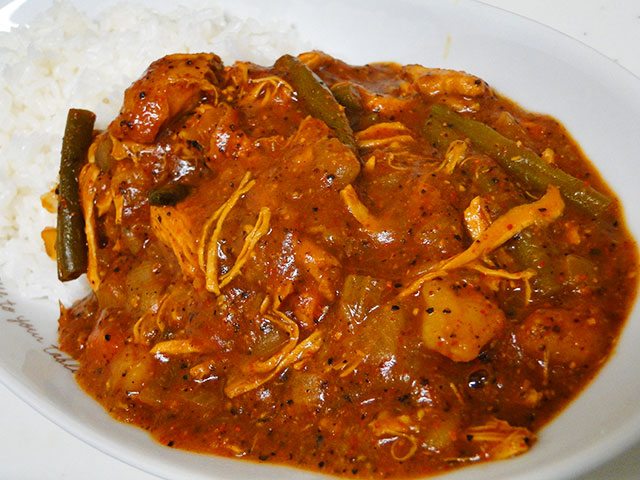Homemade Spicy Chicken Curry with Steamed Rice