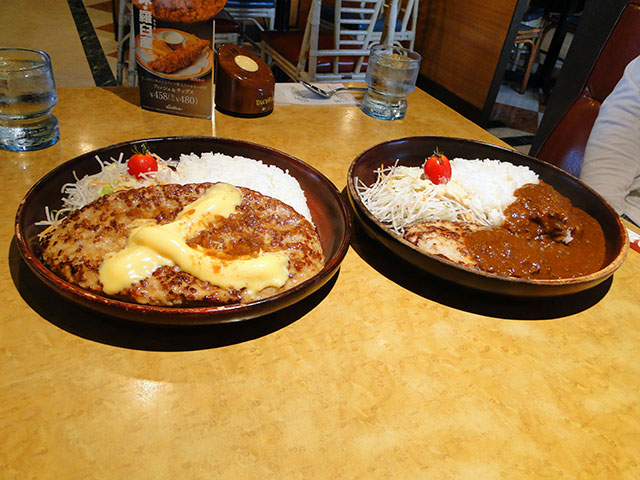 400 g Cheese Burg Dish and 150 g Curry Burg Dish