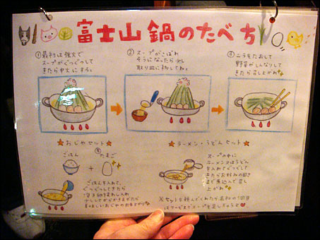 How to Eat Mt. Fuji Nabe