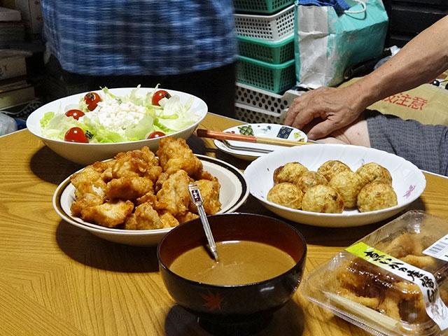 Homemade Takoyaki and Deep Fried Chicken