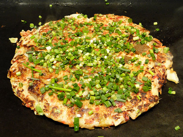 Green Onion Pancake with Beef Sinew