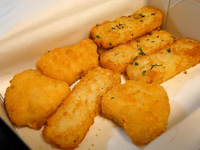 Chicken Nuggets and Hashed Potatoes