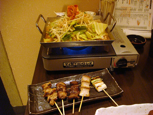 Chiritori Nabe and Grilled Pork