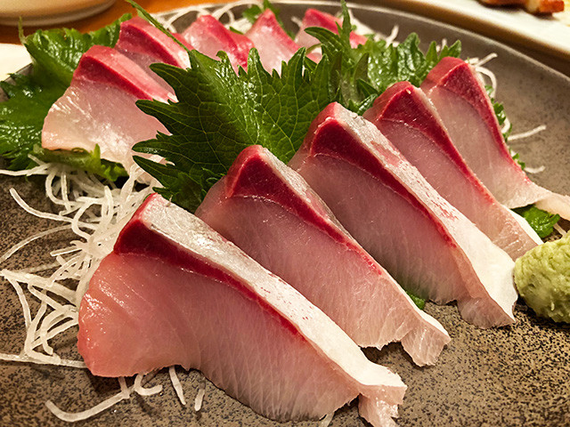 Big Serving of Yellowtail Sashimi