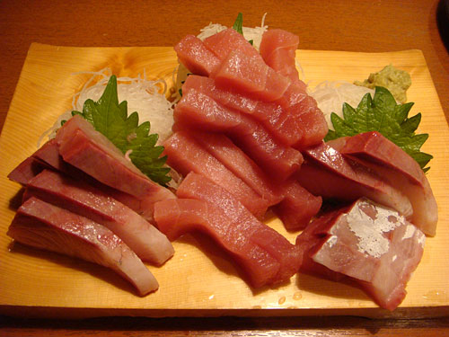 Tuna and Yellow Tail Sashimi
