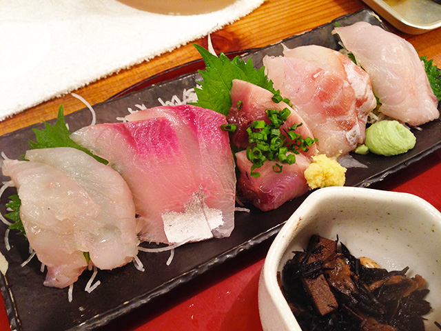 Five Assorted Sashimi