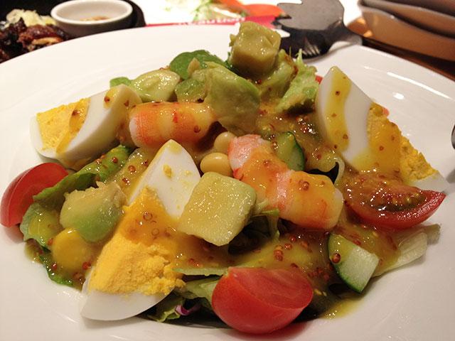 Chopped Salad with Shrimps and Avocado