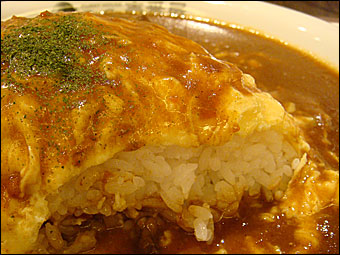 Beef Omelet Rice Curry