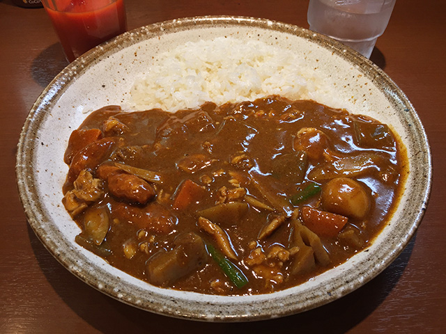 Chicken Meatball and Root Vegetable Curry in Japanese Style