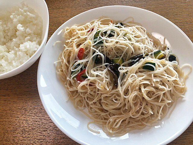 Fried Rice Noodles with Chiba Prefecture vegetables