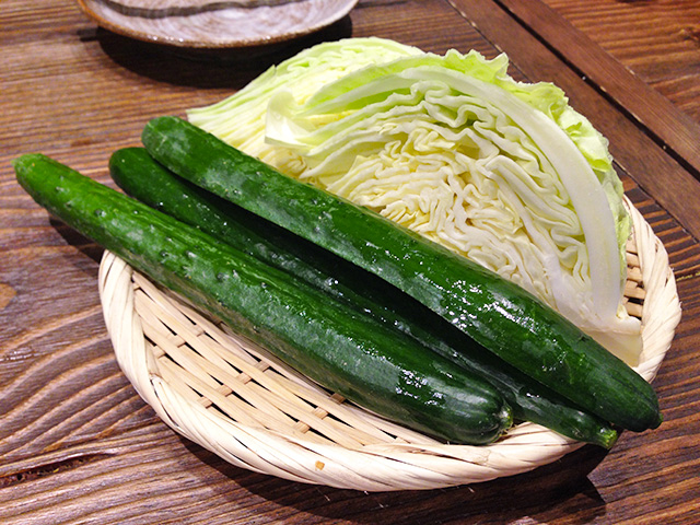 Cucumber and Cabbage