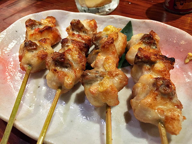 Broied Skewered Chicken Tail