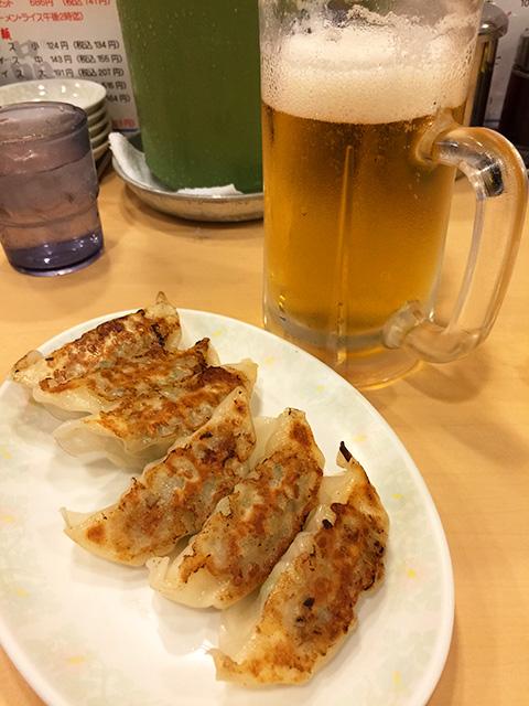 Gyoza and Beer