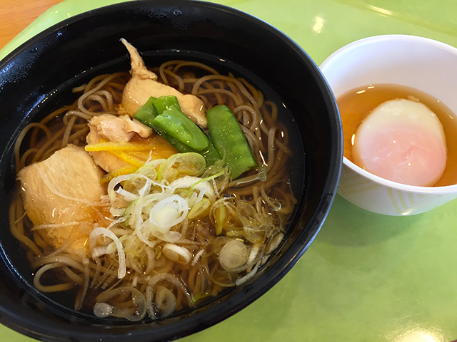 Soba Noodles in Soup with Chicken and Leek