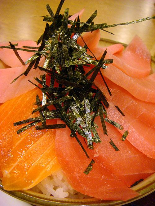 Tuna and Salmon Bowl