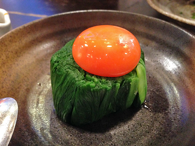 Steamed Leeks with Egg Yolk