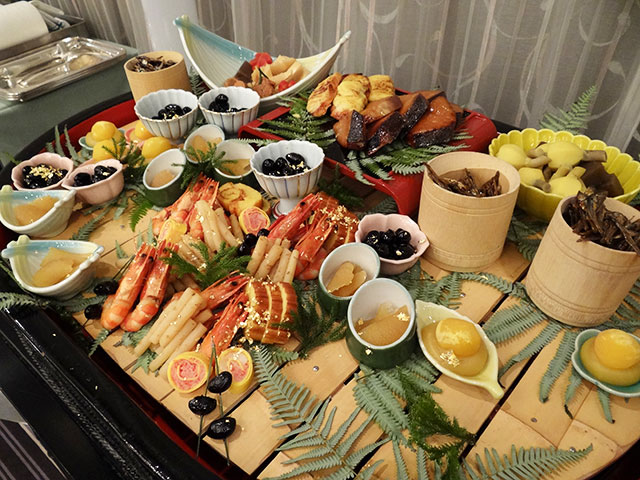 Assorted New Year's Foods