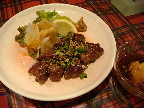 Beefsteak with Grated Radish