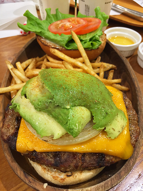 Thick Cheddar Cheese Avocado Burger