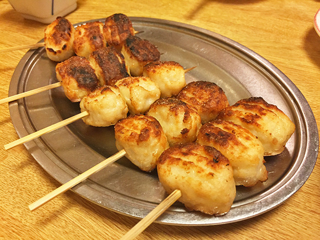 Broiled Skewered Chicken Meatballs