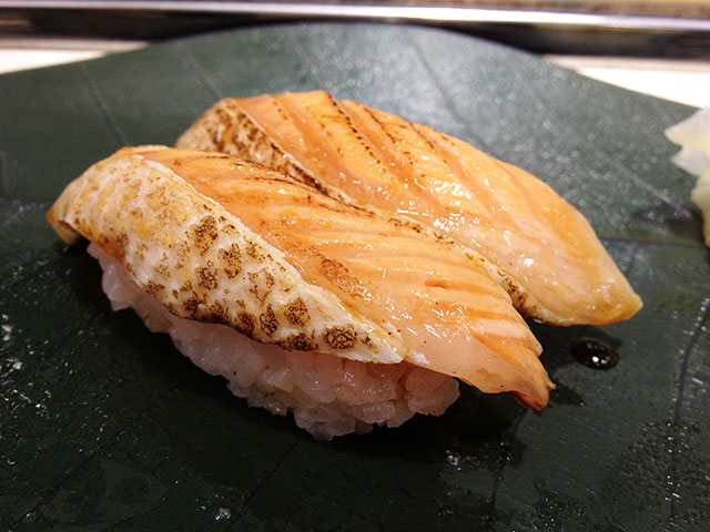 Roasted Salmon Nigiri Sushi