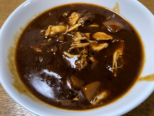 Beef Curry with Stewed Chicken
