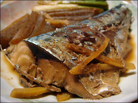 Stewed Mackerel with Miso