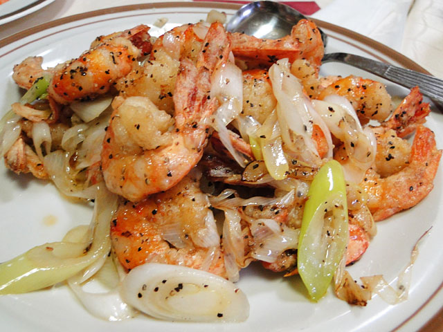 Grilled Prawns with Black Pepper