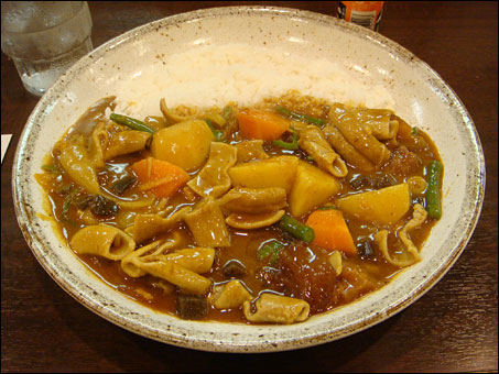 Beef Giblets Curry with Various Toppings