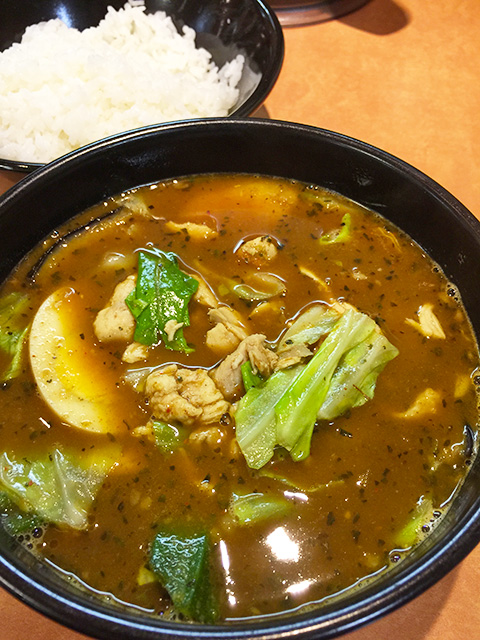Soup Curry with Stewed Chicken