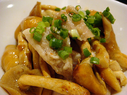 Steamed Chicken and Mushrooms