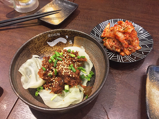 Stewed Fibrous Meat and Kimchi