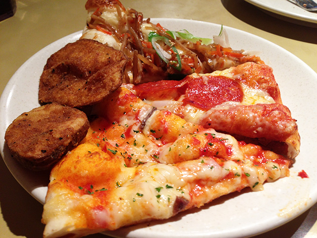 Pizza and French Fries